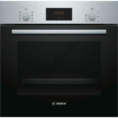 Bosch HBF153ES0 Serie2 nemesacél beépíthető sütő EcoClean öntisztítás 1 sütősín piros kijelző