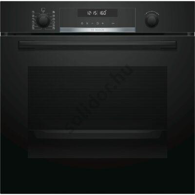 Bosch HBG5780B0  Serie6 beépíthető sütő feketel pirolítikus öntisztítás AutoPilot30 1-szintű szintfüggetlen teleszkópos sütősín