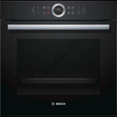 Bosch HBG6750B1 Serie 8 pirolítikus beépíthető sütő fekete TFT kijelző AutoPilot10