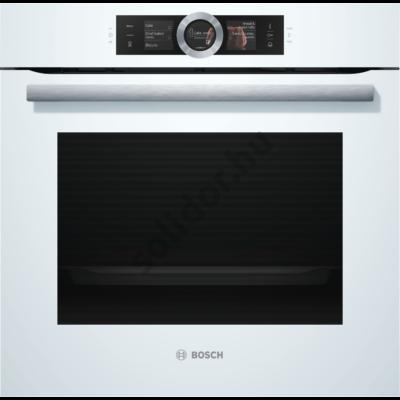 Bosch HSG636BW1 Serie 8 gőzsütő fehér EcoClean Direct DishAssist-funkció 3 részes TFT kijelző beépíthető