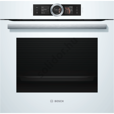 Bosch HSG636BW1 Serie8 gőzsütő fehér EcoClean Direct DishAssist-funkció 3 részes TFT kijelző beépíthető