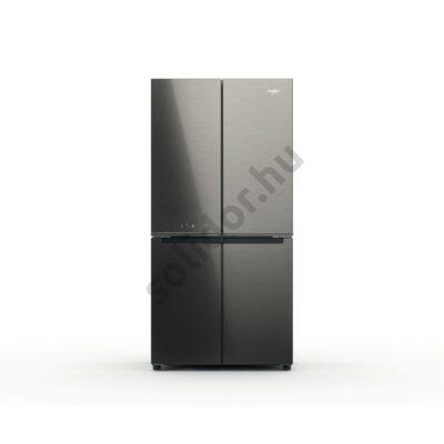 Whirlpool WQ9 U1GX 4 ajtós NoFrost hűtő Glass Inox F 188x91x70cm