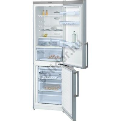 Bosch KGN36XLEQ Serie 4 NoFrost A++ alulfagyasztós hűtő inoxlook 186x60x66cm