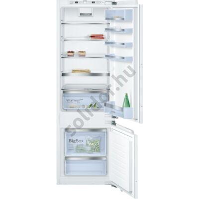 Bosch KIS87AD40 Serie 6 beépíthető alulfagyasztós hűtő VitaFresh plus box A+++ 208+61L 178cm