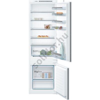 Bosch KIV87VS30  Serie 4  beépíthető alulfagyasztós hűtő 177cm A++ 209+63L