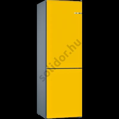 Bosch KVN39IF4A VarioStyle NoFrost Napraforgó színü ajtóborítással alulfagyasztós hűtő A+++ 203x60x66cm