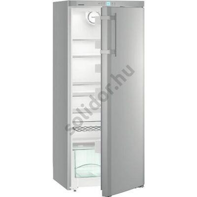"""Liebherr Ksl3130 Comfort egyajtós hűtő ezüst ,,F"""" 297L 145x60x63cm"""