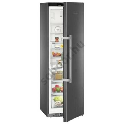 "Liebherr KBbs4374 Premium BioFresh egyajtós hűtő BlackSteel ,,C"" 314/24L 185x60x67cm BluPerformance"