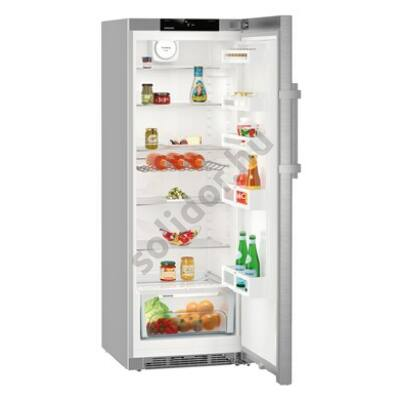 """Liebherr Kef3730 Comfort egyajtós hűtő nemesacél ajtó ,,D"""" 342L 165x60x67cm"""
