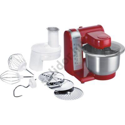 Bosch MUM48R1 konyhai robotgép piros  600W 3,9L pios fémtál szeletelő készlet