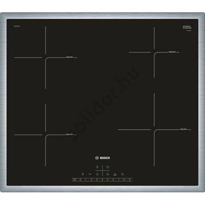 Bosch PIE645FB1E Serie 6 indukciós üvegkerámia főzőlap nemesacél keret 60cm 7,2kW