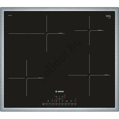 Bosch PIF645FB1E Serie 6 indukciós üvegkerámia főzőlap nemesacél keret 60cm 7,2kW