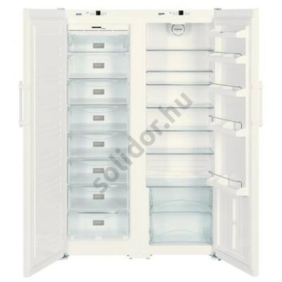 Liebherr SBS7212 Comfort NoFrost side by side hűtőszekrény fehér A+/A+ 383/257L 185x121x63cm