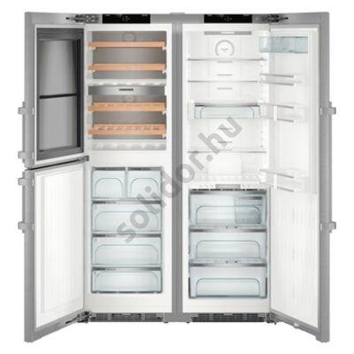 Liebherr SBSes 8496 Premium BioFresh NoFrost borhűtő BLUPerformance side by side nemesacél IceMaker jégkockakészítő hűtő D/D 185x121x67cm