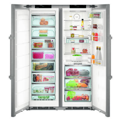 Liebherr SBSes8683 Premium BioFresh NoFrost BLUPerformance side by side nemesacél hűtő A+++/A+++ 185x121x67cm