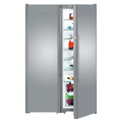 Liebherr SBSesf7212  Comfort NoFrost side by side hűtőszekrény nemesacél A+/A+ 383/257L 185x121x63cm