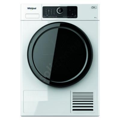 Whirlpool ST U 83E EU hőszivattyús szárítógép A+++ 8kg fekete ajtó fekete kerettel