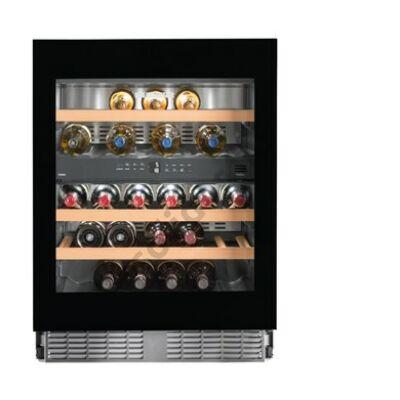Liebherr UWTgb1682 beépíthető bortemperáló borhűtő fekete 34 palack 82-87x60x58cm