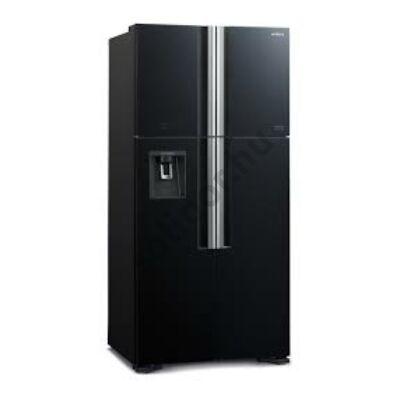 Hitachi W660PRU7.GBK 4 ajtós felülfagyasztós hűtő A++ 540L fekete üveg