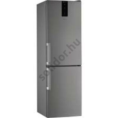 Whirlpool W7 821O OX H alulfagyasztós inox NoFrost A++ hűtő 190x60x65cm külső ajtónyitó fogantyúval