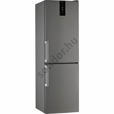 Whirlpool W7 831T OX H alulfagyasztós inox NoFrost A+++ hűtő 190x60x65cm  külső ajtónyitó fogantyúval,