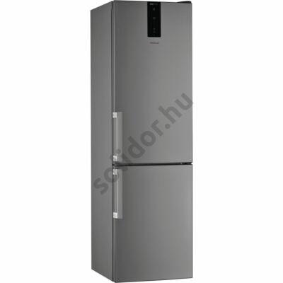 Whirlpool W7 921O OX H alulfagyasztós inox NoFrost A++ hűtő 200x60x65cm külső ajtónyitó fogantyúval