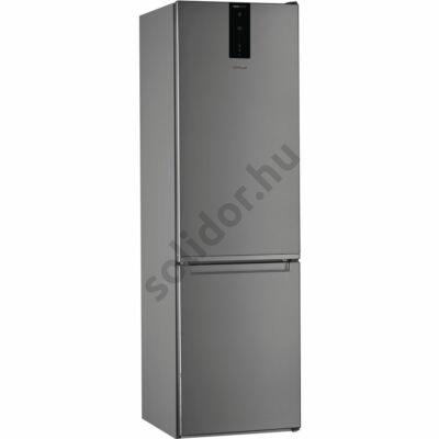 Whirlpool W7 921O OX alulfagyasztós inox NoFrost E hűtő 200x60x65cm rejtett ajtó fogantyúval