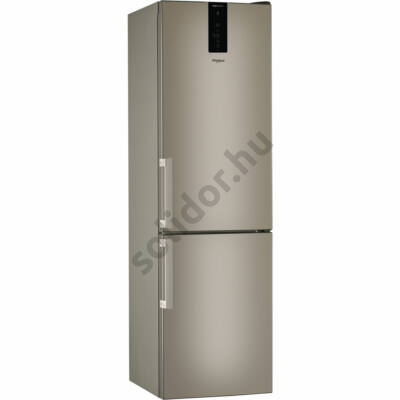 Whirlpool W9 931D B H alulfagyasztós hűtő bronz metál szín Dual NoFrost A+++ 201x60x66cm