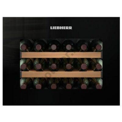 Liebherr WKEgb582 beépíthető borklíma borhűtő fekete 18 palack A+ 45x56x55cm