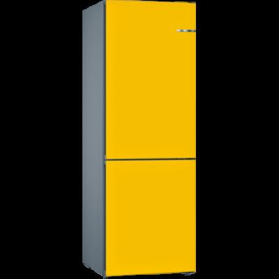 Bosch KVN36IF3A VarioStyle NoFrost Napraforgó színű ajtóborítással alulfagyasztós hűtő E 186x60x65cm