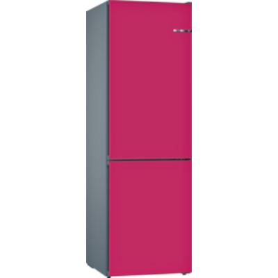 Bosch KVN36IE3A VarioStyle NoFrost Málna színű ajtóborítással alulfagyasztós hűtő A++ 186x60x65cm