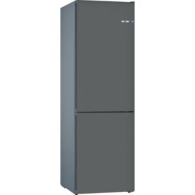 Bosch KVN39IG3A VarioStyle NoFrost Szikla szürke színű ajtóborítással alulfagyasztós hűtő E 203x60x66cm