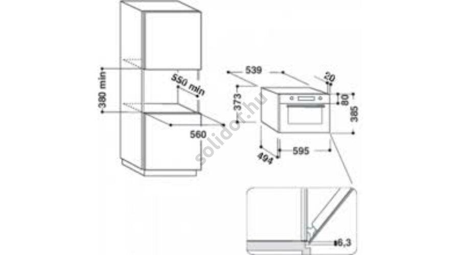 Whirlpool W9MD260IXL W Collection beépíthető mikrohullámú